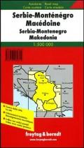 Auto karta Srbije, Crne Gore i Makedonije