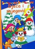 Djeca i snjegović - bojanka