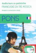 PONS Audio kurs za početnike - Francuski za tri meseca, komplet za samostalno učenje