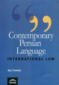 Contemporary  Persian Language - Intenational Law