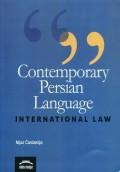 Contemporary  Persian Language - Intenational Law