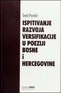 Ispitivanje razvoja versifikacije u poeziji Bosne i Hercegovine