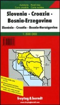 Auto karta: Slovenija, Hrvatska, Bosna i Hercegovina